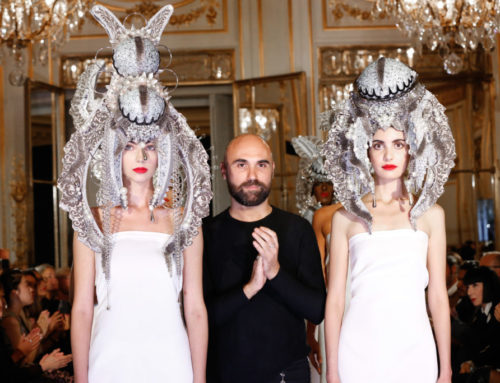 "Giuseppe Fata alla Paris Fashion Week tra i big della moda parigina ha presentato "" White Inside"" Bernini's Genius of the Baroque"